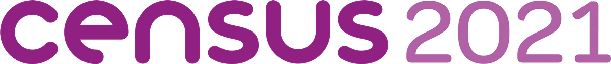 Census 2021 Logo Purple Landscape