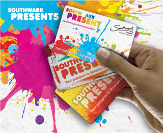 Southwark presents card