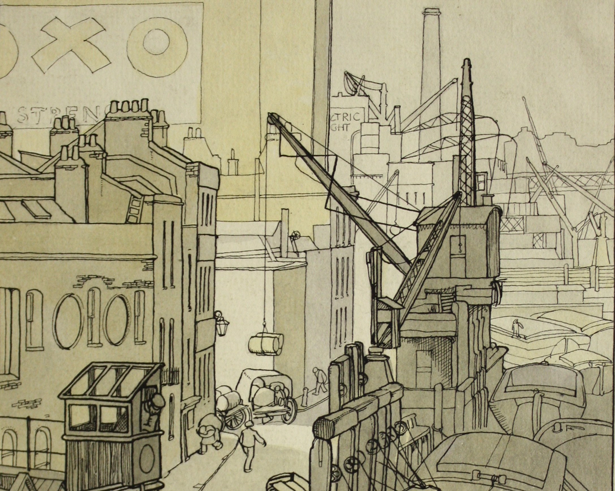 article thumb - Wharf on Bankside by Grace Lydia Golden.