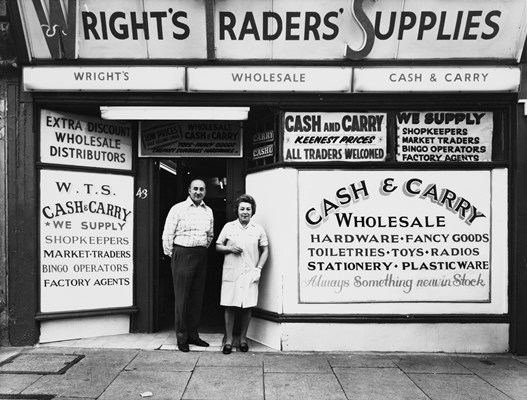 Wright's Traders' Supplies, 43 London Road. © Brue Rae, London College of Communication, 1975. Collection: UAL Archives and Special Collections Centre