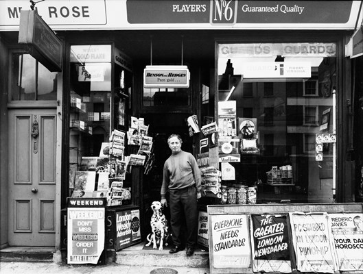 Mr L Rose, Newsagents, 6 London Road, © Bruce Rae, London College of Communication,  1975 Collection: UAL Archives and Special Collections Centr