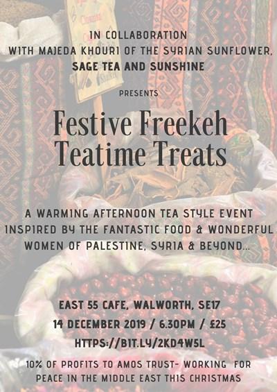 Festive Freekeh Teatime Treats flyer