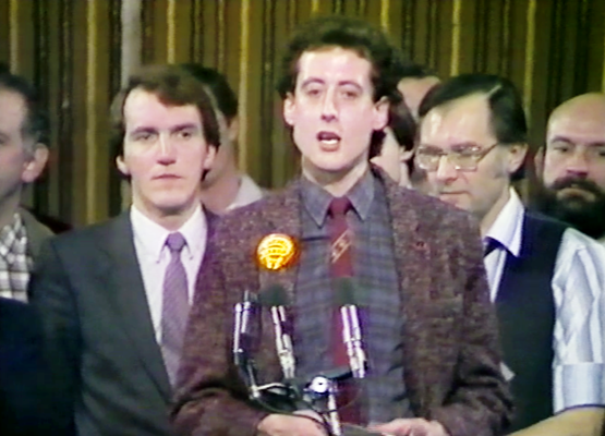 Peter Tatchell speech at Bermondsey Bi-Election results, Feb 1983