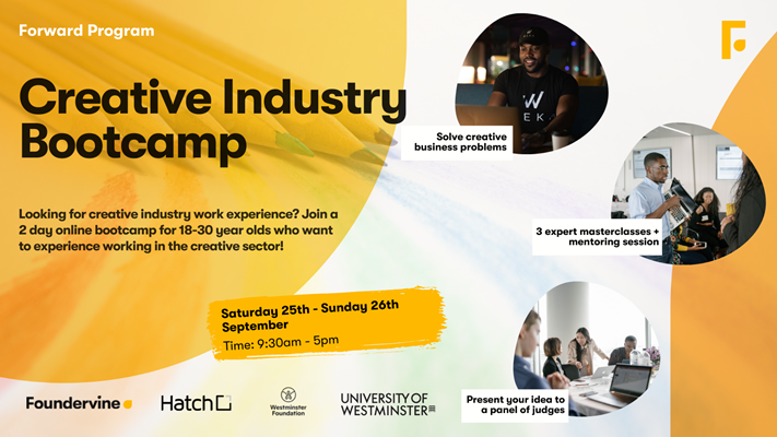 Foundervine's Creative Industry Bootcamp