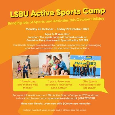 LSBU Active Holiday Sports Camp
