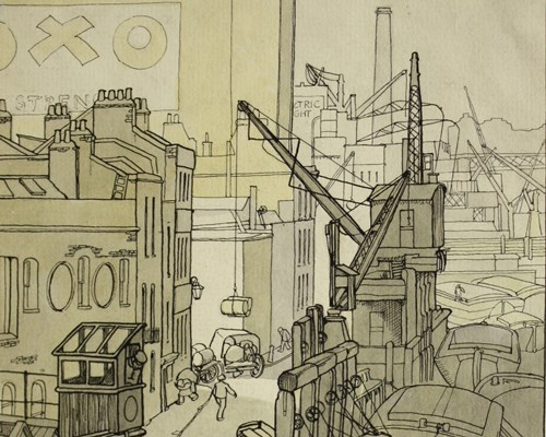 Wharf on Bankside by Grace Lydia Golden.